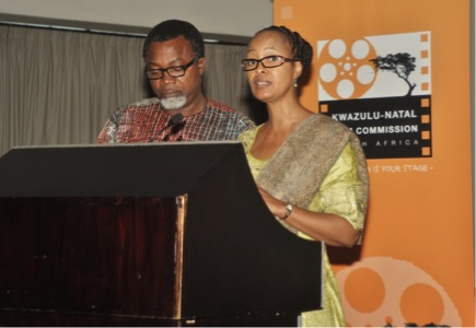 Mahmood Ali-Balogun Head of the Nigerian Delegation and Jackie Motsepe KwaZulu Natal Film Commission