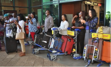 Nigerian delegates arriving in South Africa