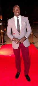 The film's Co- star and love interest Chris Attoh hit the red carpet looking suave in a gentleman's jacket.