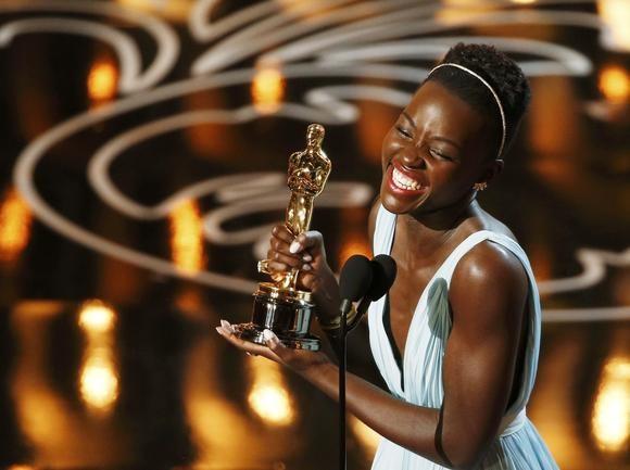 Lupita delights in her Oscar win