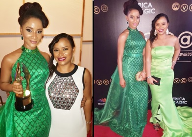 Adesua Etomi and Michelle Bello at the 2016 AMVCA's